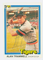 Alan Trammell AUTOGRAPH 1981 Donruss #5 Tigers 