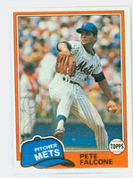 Pete Falcone AUTOGRAPH 1981 Topps #117 Mets   [SKU:FalcP6115_T81BB]