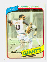 John Curtis AUTOGRAPH 1980 Topps #12 Giants 