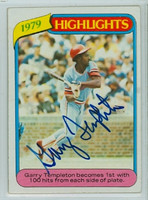 Garry Templeton AUTOGRAPH AUTO 1980 Topps #5 Cardinals Highlight 