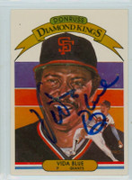 Vida Blue AUTOGRAPH 1982 Donruss #4 Giants Diamond King 
