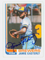 Jamie Easterly AUTOGRAPH 1982 Topps #122 Brewers   [SKU:EastJ6433_T82BB]
