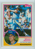 Bruce Bochte AUTOGRAPH 1983 Topps #28 Mariners 
