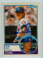 Ron Cey AUTOGRAPH 1983 Topps #19 Cubs TRADED 