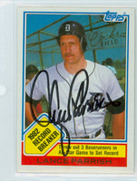 Lance Parrish AUTOGRAPH 1983 Topps #4 Tigers Record Breaker 