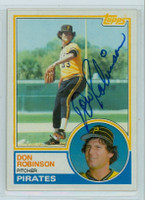 Don Robinson AUTOGRAPH 1983 Topps #44 Pirates 