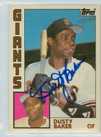 Dusty Baker AUTOGRAPH 1984 Topps #5 Giants TRADED 