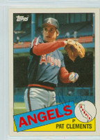 Pat Clements AUTOGRAPH 1985 Topps #23T Angels TRADED   [SKU:ClemP9257_T85BBTRLE]