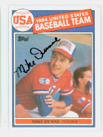 Mike Dunne AUTOGRAPH 1985 Topps #395 US Olympic Team 