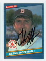 Glenn Hoffman AUTOGRAPH 1986 Donruss #457 Red Sox 