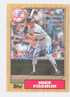 Mike Fischlin AUTOGRAPH 1987 Topps #434 Yankees   [SKU:FiscM6122_T87BBNYjl]