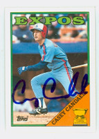 Casey Candaele AUTOGRAPH 1988 Topps Expos   [SKU:CandC10259_T88BB]