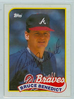 Bruce Benedict AUTOGRAPH 1989 Topps Braves 