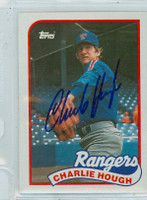 Charlie Hough AUTOGRAPH 1989 Topps Rangers 