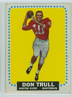1964 Topps Football 87 Don Trull ROOKIE Houston Oilers Very Good