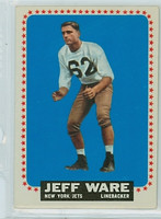 1964 Topps Football 128 Jeff Ware New York Jets Excellent to Mint