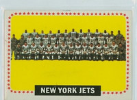 1964 Topps Football 131 Jets Team Excellent