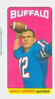 1965 Topps Football 36 Daryle Lamonica Single Print Buffalo Bills Excellent to Excellent Plus