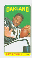 1965 Topps Football 146 Art Powell Oakland Raiders Excellent to Excellent Plus