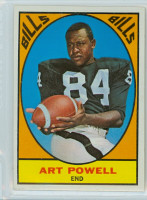 1967 Topps Football 17 Art Powell Buffalo Bills Excellent to Excellent Plus