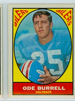 1967 Topps Football 48 Ode Burrell Houston Oilers Excellent