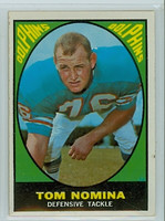 1967 Topps Football 86 Tom Nomina Miami Dolphins Very Good to Excellent