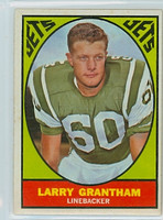1967 Topps Football 93 Larry Grantham New York Jets Excellent