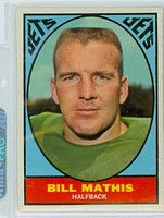 1967 Topps Football 96 Bill Mathis New York Jets Excellent to Mint