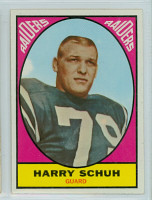 1967 Topps Football 115 Harry Schuh Oakland Raiders Very Good to Excellent