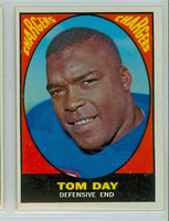 1967 Topps Football 117 Tom Day San Diego Chargers Excellent to Mint