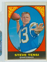 1967 Topps Football 119 Steve Tensi San Diego Chargers Excellent to Excellent Plus