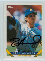 Rich Amaral AUTOGRAPH 1993 Topps Mariners   [SKU:AmarR10724_T93BBv]