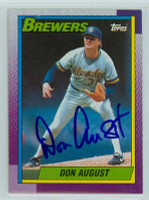 Don August AUTOGRAPH 1990 Topps Brewers   [SKU:AuguD9139_T90BB]