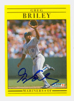 Greg Briley AUTOGRAPH 1991 Fleer Mariners 