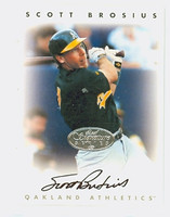 Scott Brosius AUTOGRAPH 1996 Leaf Signature Series Athletics Silver CERTIFIED 