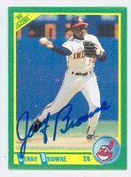Jerry Browne AUTOGRAPH 1990 Score Indians 