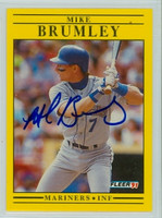 Mike Brumley AUTOGRAPH 1991 Fleer Mariners 