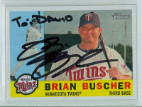 Brian Buscher AUTOGRAPH 2009 Topps Heritage 1960 Topps Design Twins PERS  [SKU:BuscB25178_TPHRT09jl]