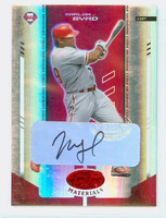 Marlon Byrd AUTOGRAPH Leaf Mirror Red Phillies /250 CERTIFIED 