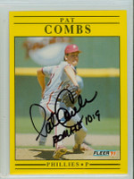 Pat Combs AUTOGRAPH 1991 Fleer Phillies 