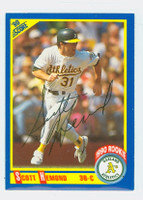 Scott Hemond AUTOGRAPH 1990 Score Athletics 