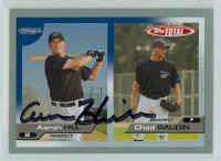 Aaron Hill AUTOGRAPH 2005 Topps Total Rays 