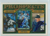 Raul Ibanez - Geoff Jenkins DUAL SIGNED 1996 Topps Prospects   [SKU:IbanR12061_T96BBDRjl]