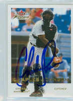 Charles Johnson AUTOGRAPH 2001 Fleer Focus White Sox 