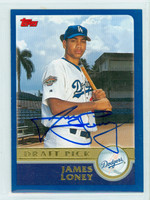 James Loney AUTOGRAPH 2003 Topps Dodgers 