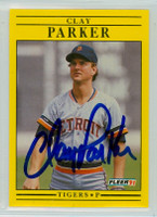 Clay Parker AUTOGRAPH 1991 Fleer Tigers 