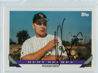 Rudy Seanez AUTOGRAPH 1993 Topps Rockies 
