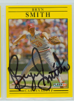 Bryn Smith AUTOGRAPH 1991 Fleer Cardinals 