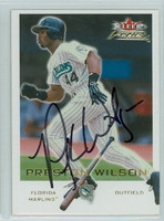 Preston Wilson AUTOGRAPH 2001 Fleer Focus Marlins 