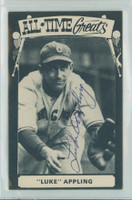 Luke Appling AUTOGRAPH d.91 TCMA All-Time Greats White Sox Stat Back 